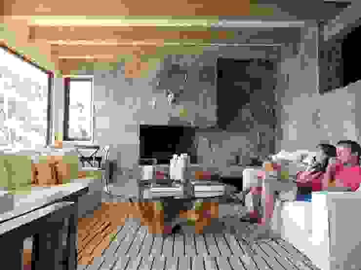 Modern Living Room by David y Letelier Estudio de Arquitectura Ltda. Modern