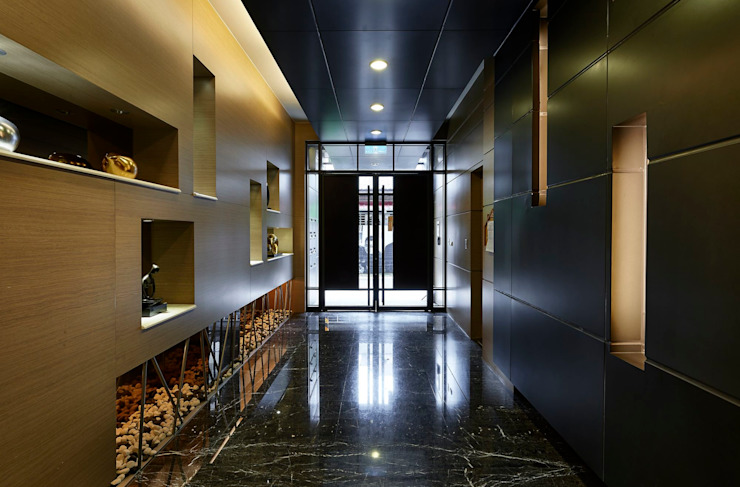 入口大廳 現代風玄關、走廊與階梯 根據 CCL Architects & Planners林祺錦建築師事務所 現代風