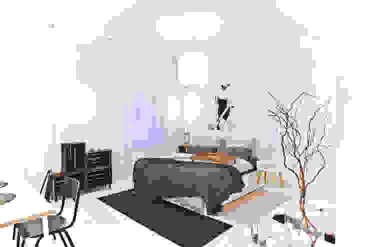 غرفة نوم تنفيذ freudenspiel - Interior Design, حداثي