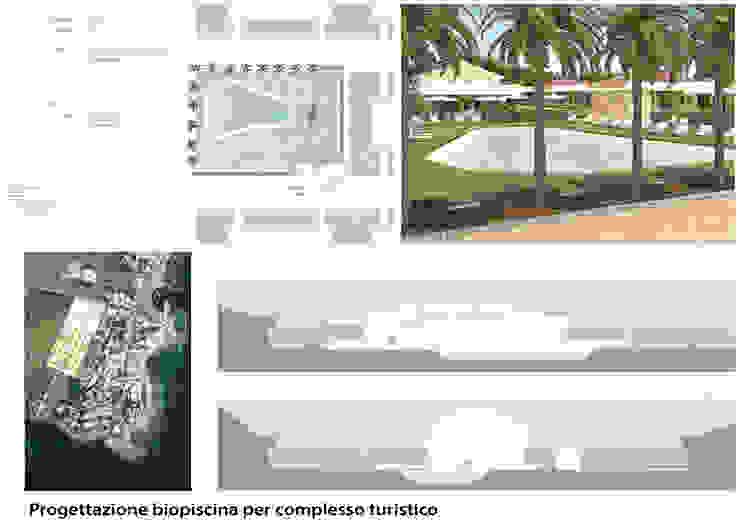 Biopiscina per complesso turistico DADA DESIGN studio-shoowroom Piscina moderna Pietra