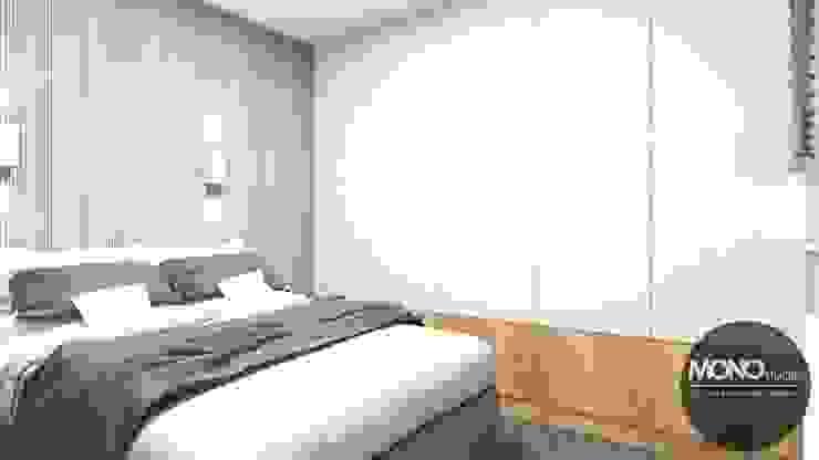 Minimalist bedroom by MONOstudio Minimalist