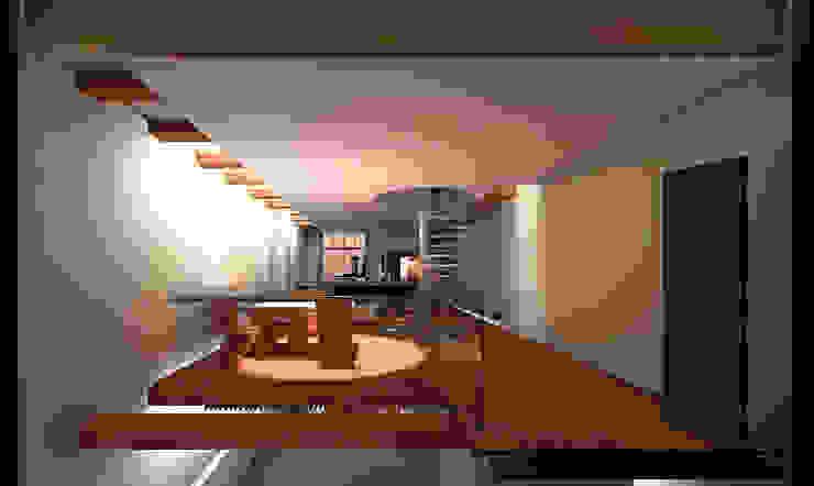 Zitkamer Moderne eetkamers van Hugo Caron Architecten bna Modern