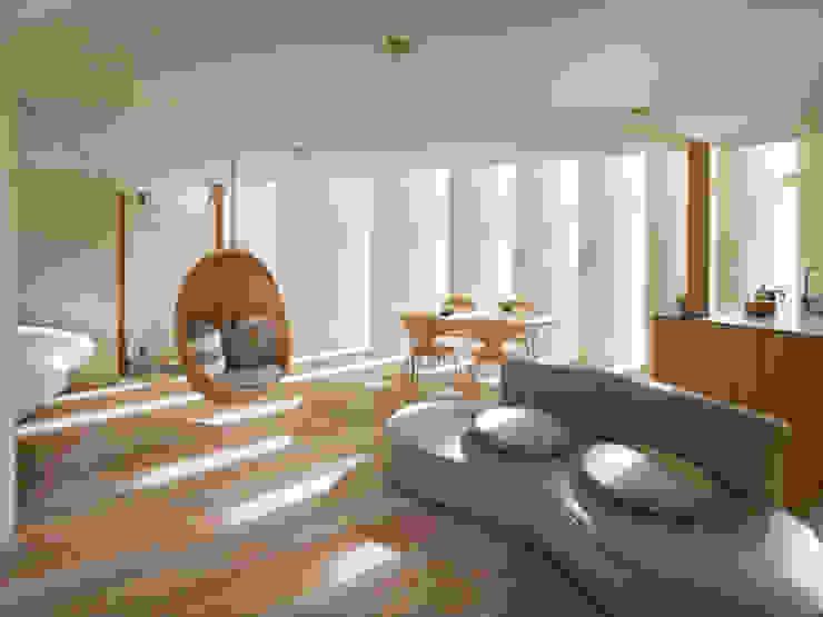 藤原・室 建築設計事務所 ห้องนั่งเล่น White