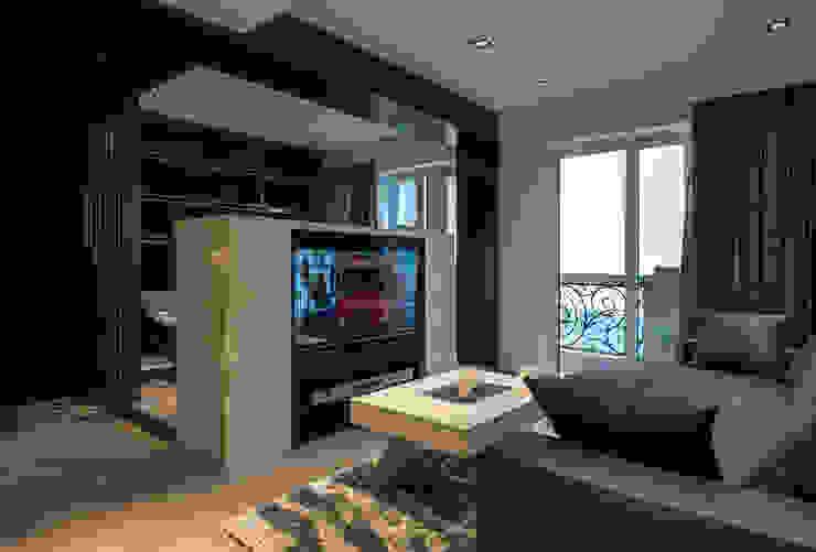 浦東外滩九里-黃金單身漢豪宅 现代客厅設計點子、靈感 & 圖片 根據 舍子美學設計有限公司 現代風