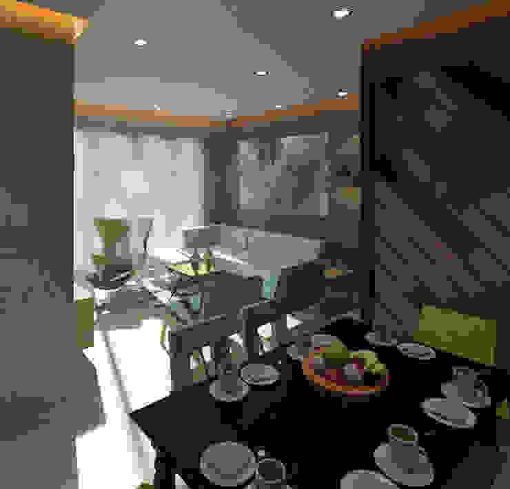 Talreja Residence Modern living room by Ramnani & Associates Modern