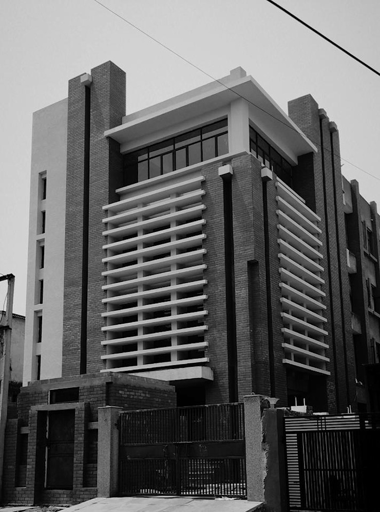Louver office Modern office buildings by Chaukor Studio Modern