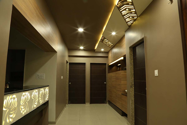 The Frond House Modern corridor, hallway & stairs by IDcreators Interior Designers Modern