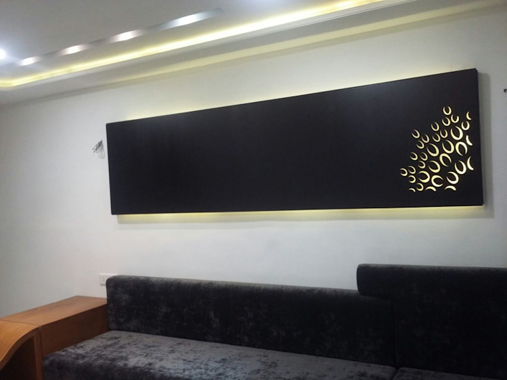 MR. HARSHIT HOUSE Modern walls & floors by IDcreators Interior Designers Modern
