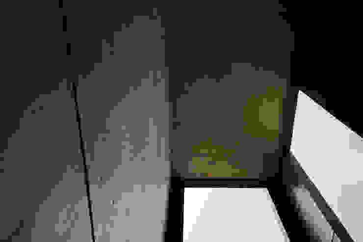 一級建築士事務所 こより Modern corridor, hallway & stairs Black