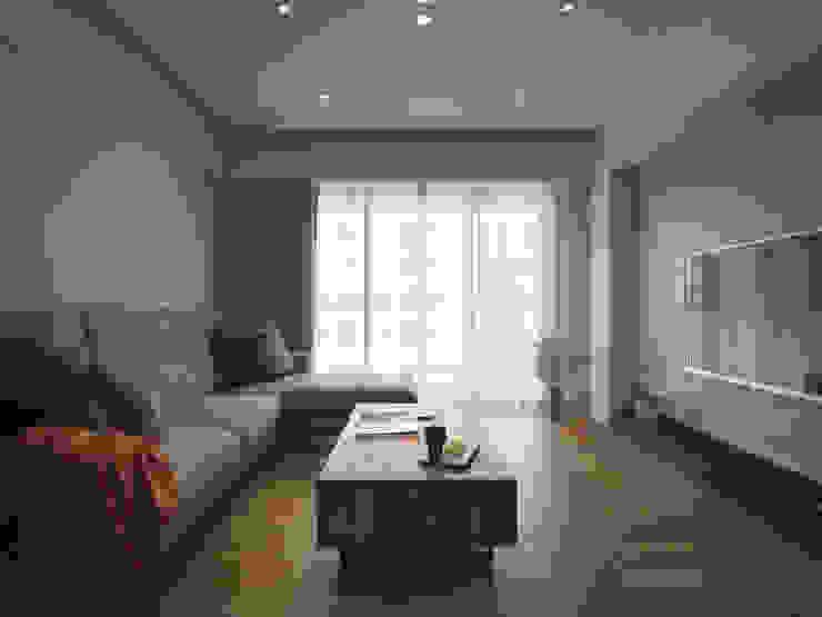 范宅|起居室| 根據 璞延空間設計 簡約風