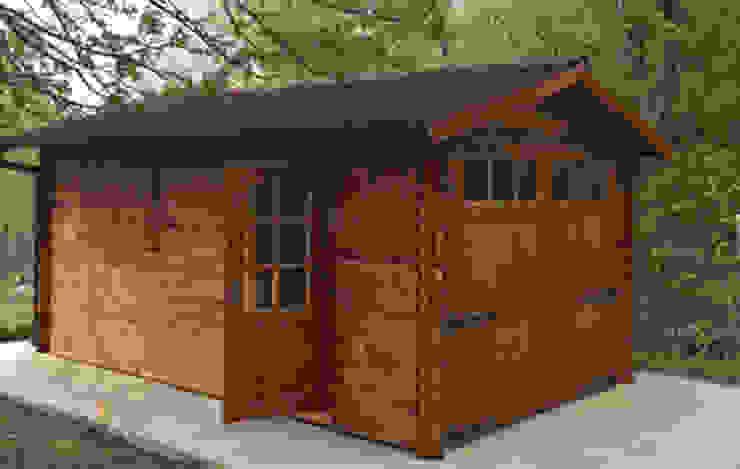 GARAGE IN LEGNO 300X500 DEKALUX Garage/Rimessa Legno Effetto legno
