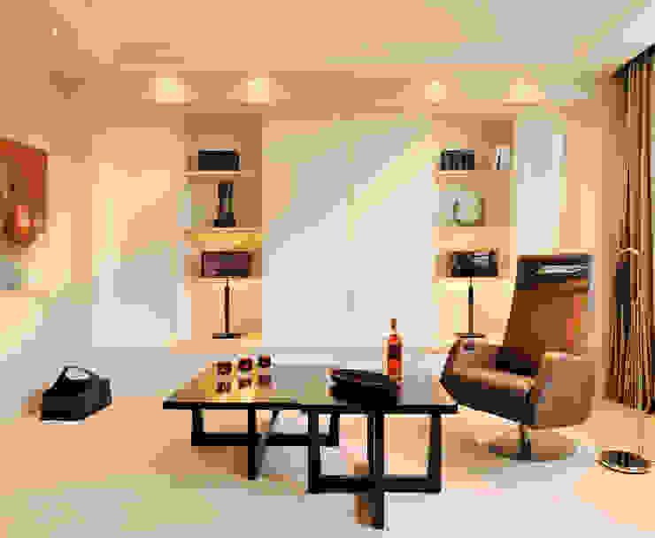 Hunke & Bullmann Modern living room Beige