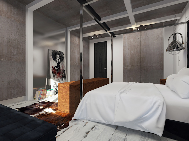 loft Спальня в стиле лофт от osavchenko Лофт