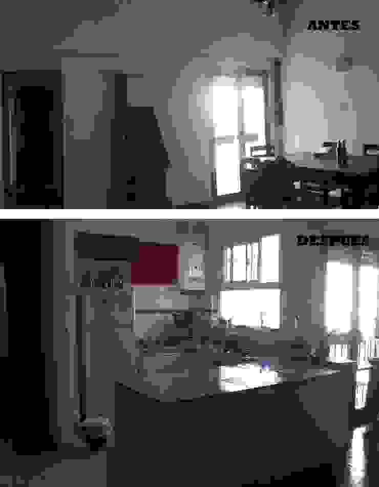 Refacción integral de cocina, Belgrano, CABA. de Estudio Morphe