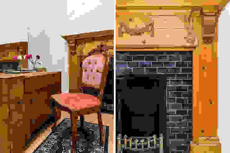 London Portman Refurbishment Classic style living room by designSTUDIO - Lopes da Silva Classic Wood Wood effect
