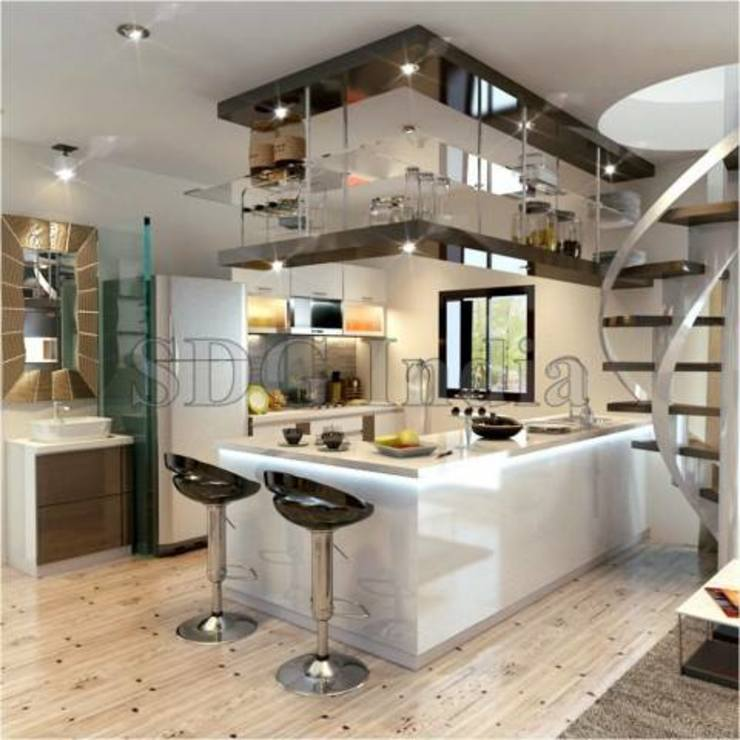 Cocinas de estilo moderno de Space Design Group Moderno