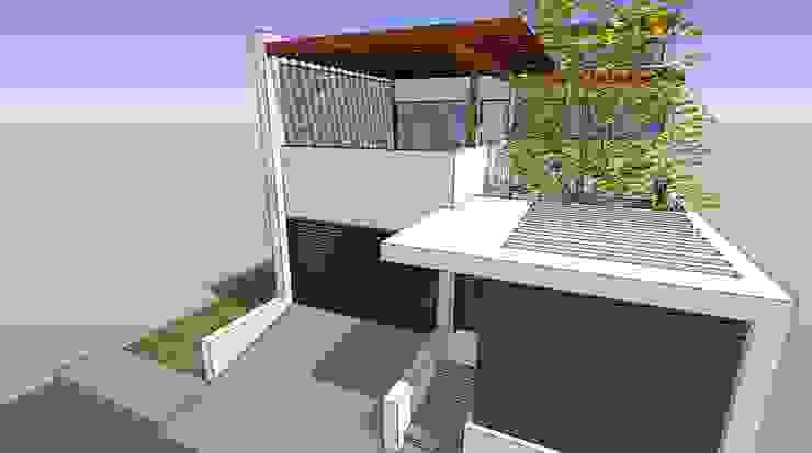Detalle de pergola de concreto Casas de estilo moderno de MARATEA estudio Moderno