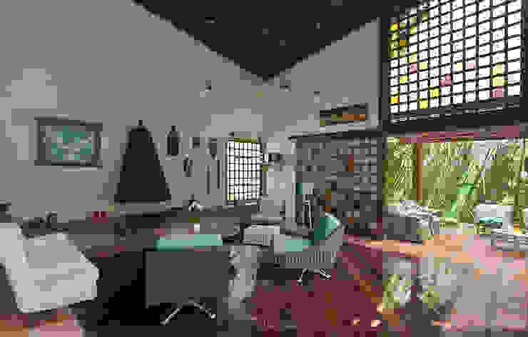 Tropical style windows & doors by SET Arquitetura e Construções Tropical