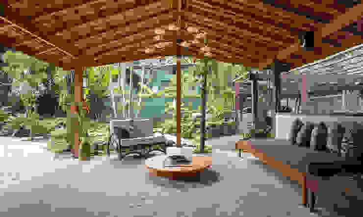 Ruang Keluarga Tropis Oleh SET Arquitetura e Construções Tropis