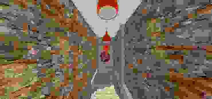Escalera de acceso MARATEA estudio Restaurantes Ladrillos