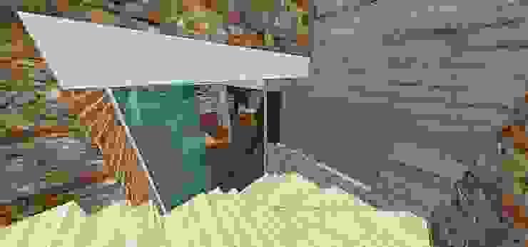 Escalera de acceso MARATEA estudio Restaurantes Mármol