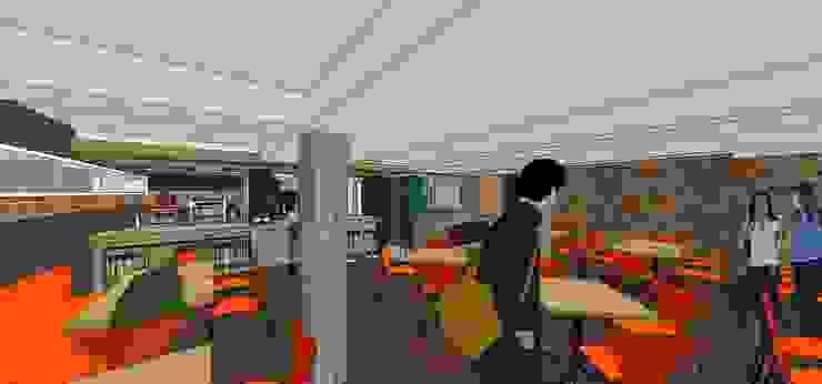 Área de mesas MARATEA estudio Tiendas y espacios comerciales Madera