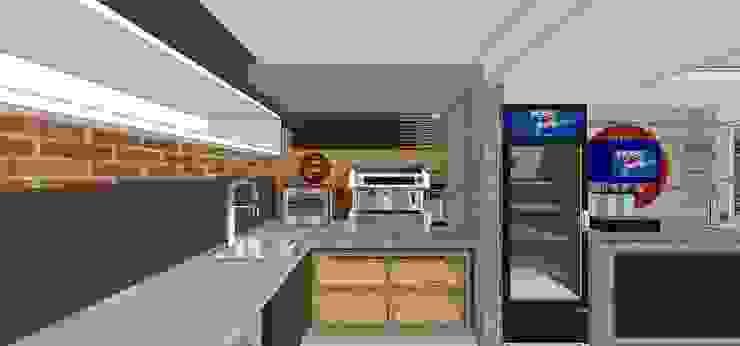 Área de cafetería MARATEA estudio Restaurantes Concreto reforzado