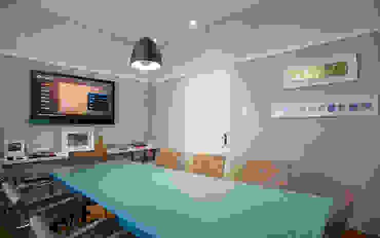 SET Arquitetura e Construções Modern Study Room and Home Office