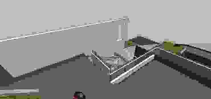 Terraza de transición Balcones y terrazas de estilo minimalista de MARATEA estudio Minimalista