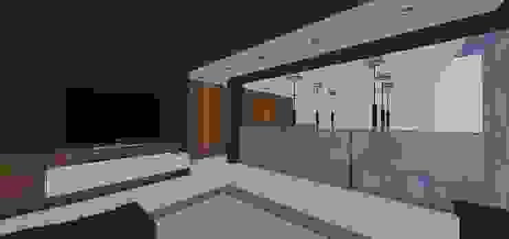 Estar intimo para Tv. MARATEA estudio Salas de entretenimiento de estilo minimalista