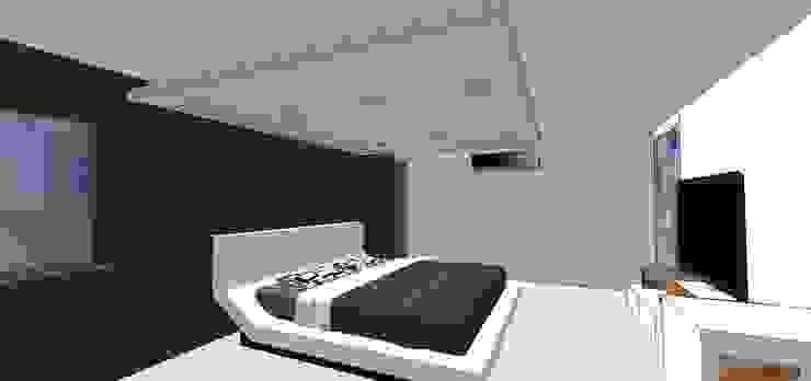 Habitación principal MARATEA estudio Cuartos de estilo minimalista