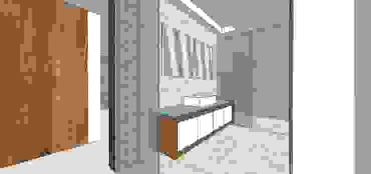 Baño habitación principal MARATEA estudio Baños de estilo minimalista