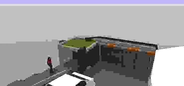 Vista interna del portón de acceso Casas de estilo minimalista de MARATEA estudio Minimalista
