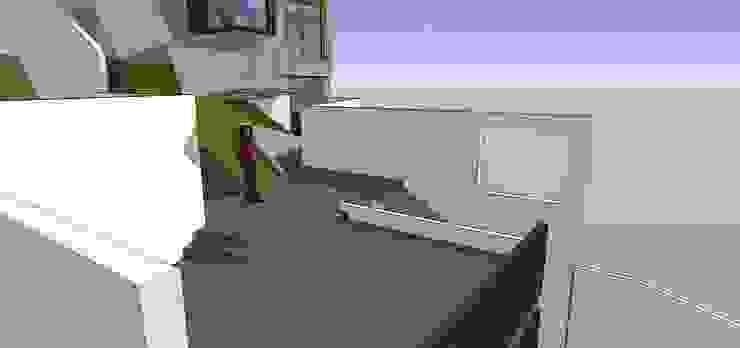 Terraza de transición MARATEA estudio Balcones y terrazas de estilo minimalista