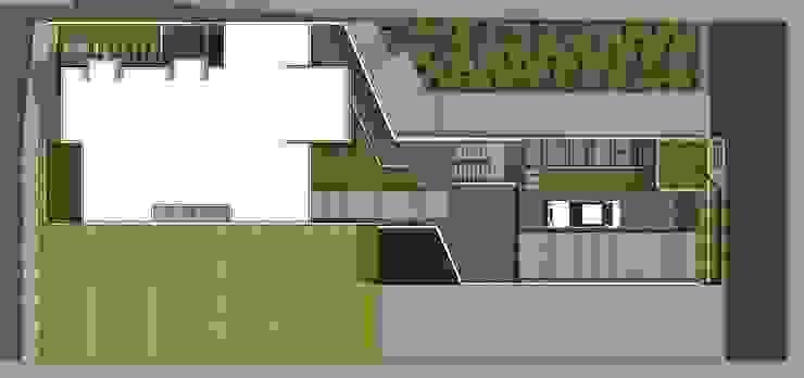 Planta de techos Casas de estilo minimalista de MARATEA estudio Minimalista