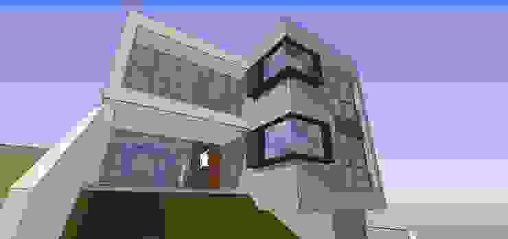 Vista del acceso MARATEA estudio Casas de estilo minimalista