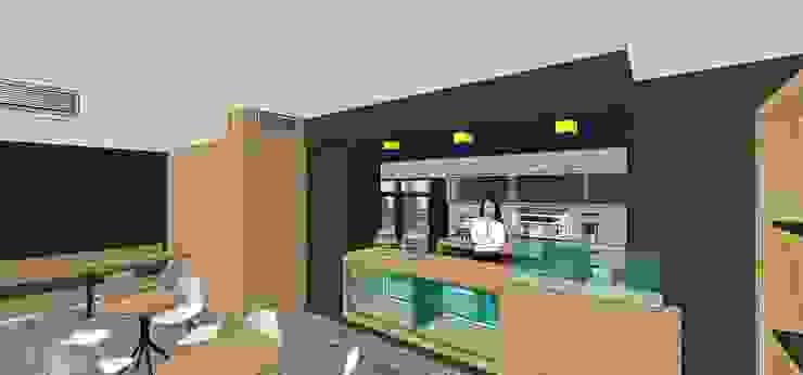 Perspectiva de la barra MARATEA estudio Restaurantes Madera