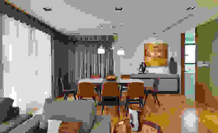 Sala da pranzo moderna di 舍子美學設計有限公司 Moderno