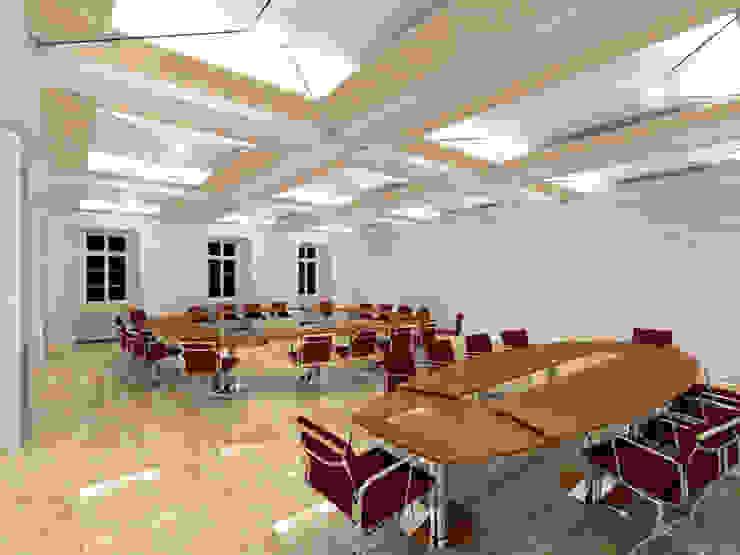 Der Umbau der Villa Hermannshof - Konferenzraum EG - Var. Sitzung II Klassische Kongresscenter von Peter Stasek Architects - Corporate Architecture Klassisch MDF