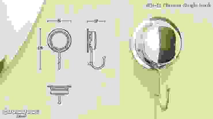 CH11 ตะขอเดี่ยว รุ่น Chrome Series โดย Square Group Co.,Ltd.