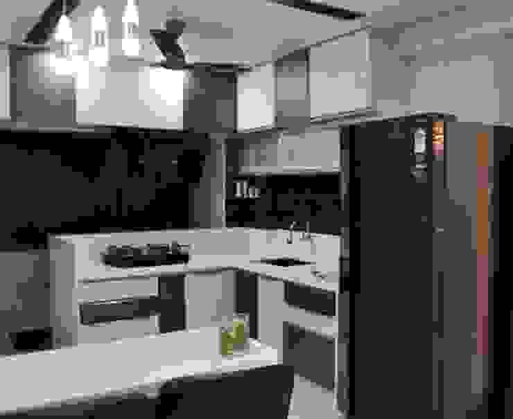 Apartment designed for Mr. Sanjay Kothari in Shahibuag: modern  by Sanchi Shah,Modern