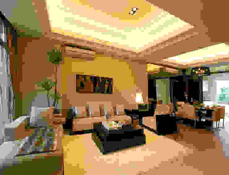 Salas de estilo asiático de 果仁室內裝修設計有限公司 Asiático