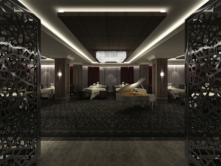 South Tower Hotel Modern walls & floors by Key Invest Interior Designer Istanbul Modern