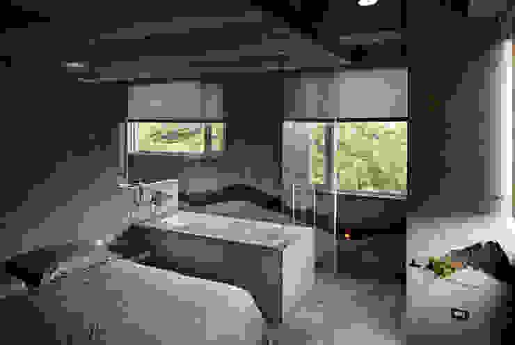 自己,享盡美景與泡澡時光。 根據 本晴設計 簡約風