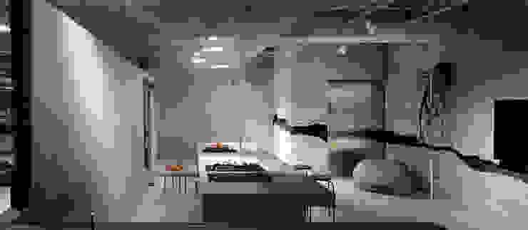 主人喜料理,開放廚房與中島,賓主盡歡。 by 本晴設計 Minimalist