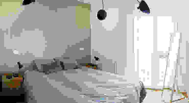 Phòng ngủ phong cách Bắc Âu bởi emmme studio Bắc Âu Gỗ Wood effect