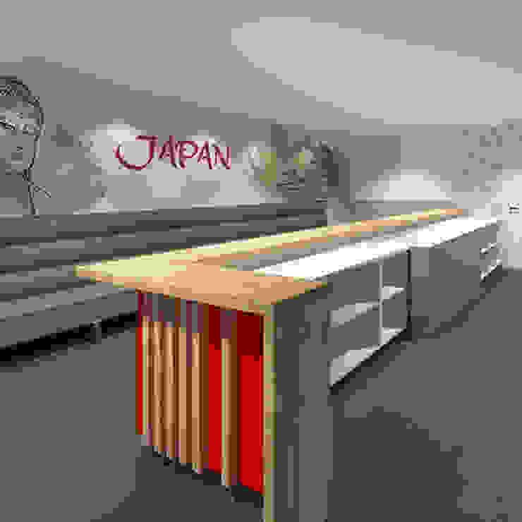 Gastronomia in stile moderno di Anne-Carien Interieurarchitect Moderno