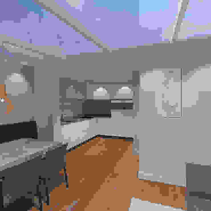 3d impressie 4 serre Moderne serres van Anne-Carien Interieurarchitect Modern