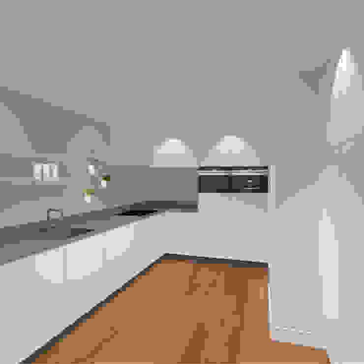 3d impressie 5 keuken Moderne keukens van Anne-Carien Interieurarchitect Modern
