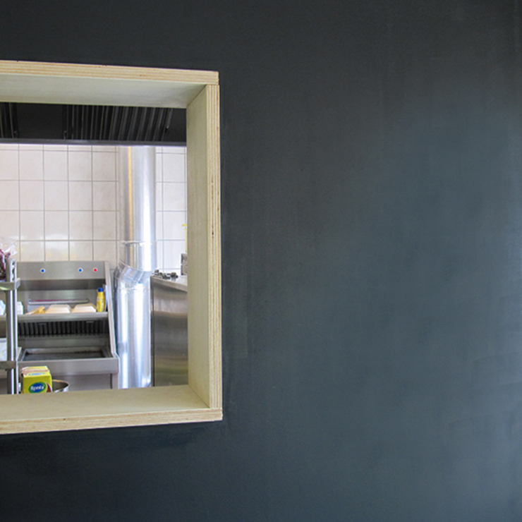 Foto 3 muurafwerking Moderne gastronomie van Anne-Carien Interieurarchitect Modern
